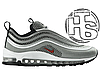 Мужские кроссовки Nіkе Аіr Мах 97 Ultra 17 Metallic Silver/Red 917704-002