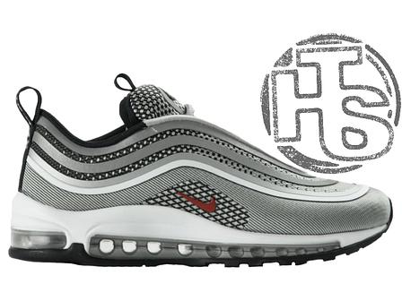 Мужские кроссовки Nіkе Аіr Мах 97 Ultra 17 Metallic Silver/Red 917704-002, фото 2