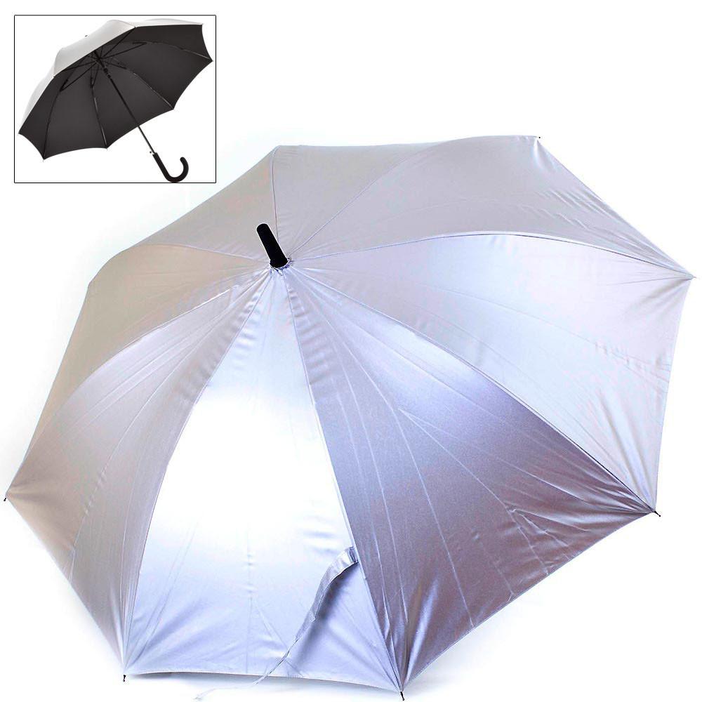 Двусторонний женский зонт-трость полуавтоматический FARE, арт.: FARE7119-silver-black