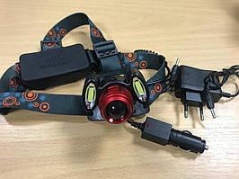 Ліхтарик налобний ліхтар Police led headlight T6 COB