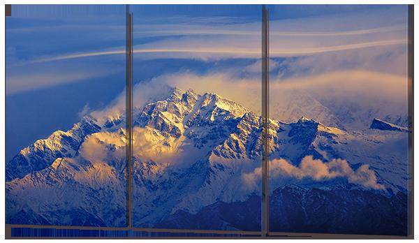 """Модульная картина """"Вид на вершины гор"""""""