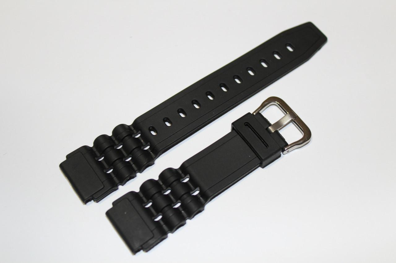 Резиновый ремень для часов (CASIO) 18мм- ремень из полеуретана.