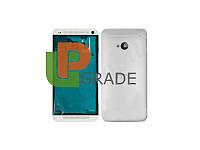 Корпус HTC 801e One M7, серебристый