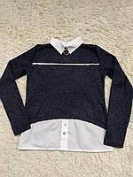 Кофта-обманка для девочек-подростков в школу, фото 1