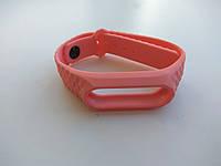 Ремешок рифленый Mijobs для Xiaomi Mi Band 2 розовый