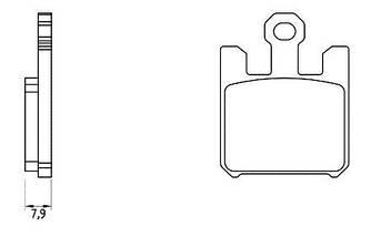 Лучшие керамические тормозные колодки FT 5119 A 49,6 / L 38,7 / S 7,9