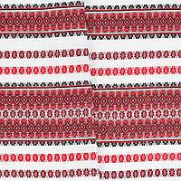 """Декоративная ткань с украинским орнаментом """"Грэгит"""" ТД-47 (3/1)"""