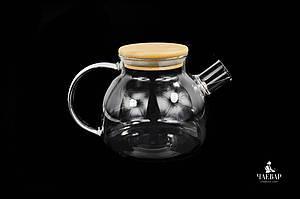 Жаропрочный чайник из стекла, 900мл