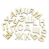 """Деревянная буква, Кабошон, Естественный цвет, """" Русский алфавит """", 23 mm x 20 mm - 20 mm x 10 mm Н"""