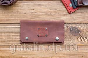 Бумажник ручной работы из натуральной кожи art. 1 цвет средне коричневый