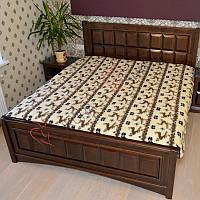 Шерстяное одеяло, двуспальное. 2 оленя, фото 1