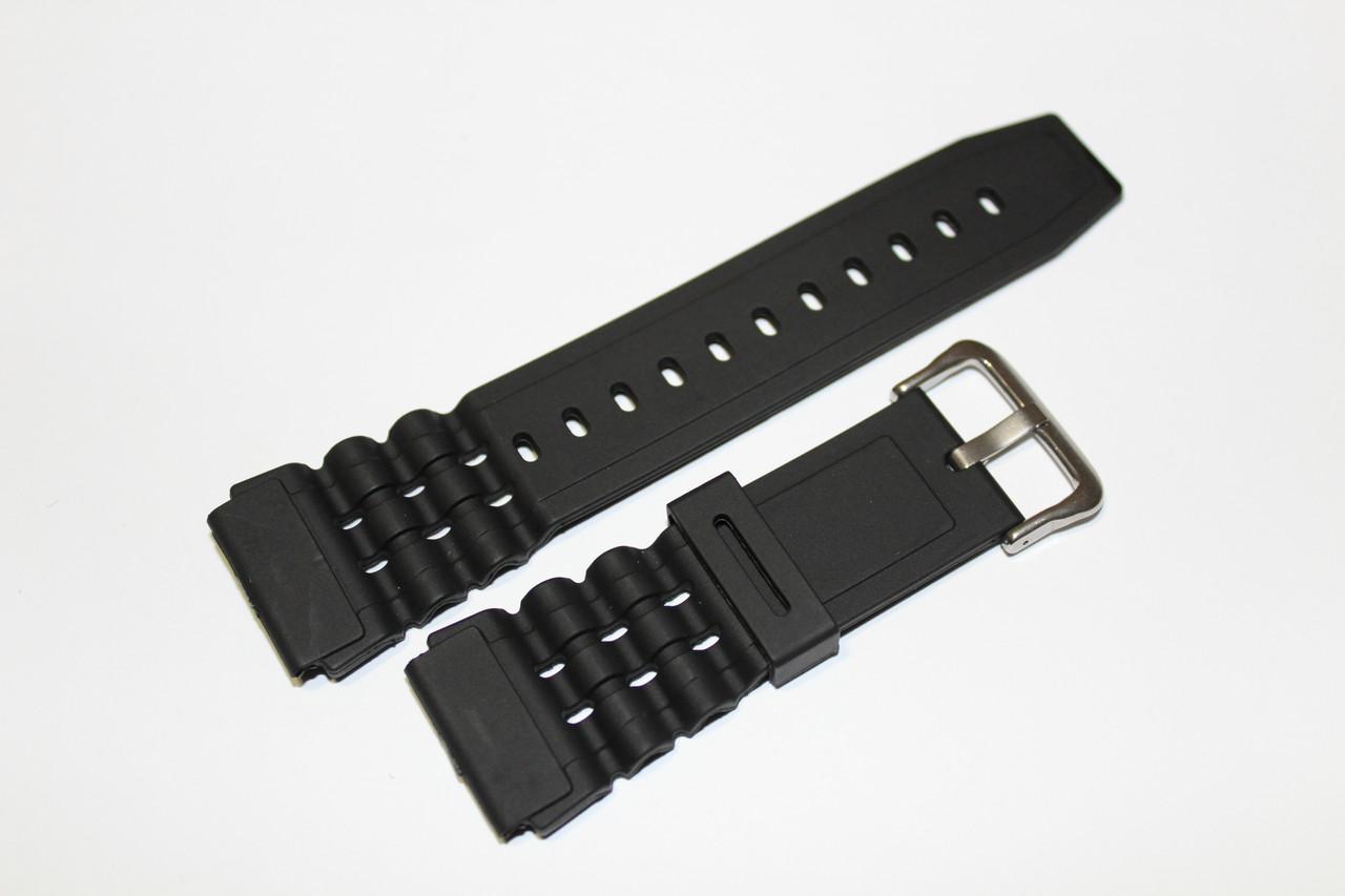 Резиновый ремень для часов (CASIO) 24мм- ремень из полеуретана.