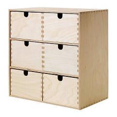 Мини-комод IKEA MOPPE 31x18x32 см березовая фанера 602.163.56