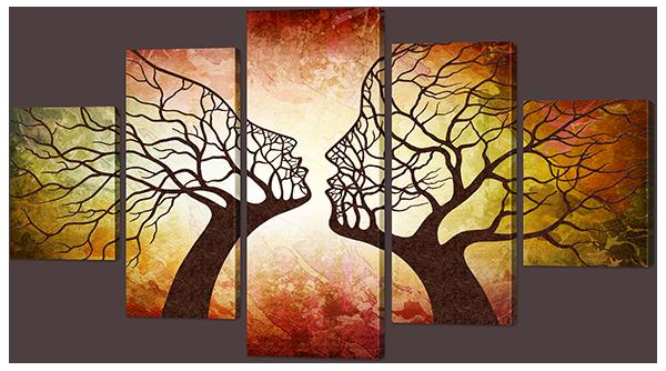 """Модульная картина """"Пара - деревья"""""""
