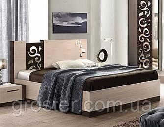 Кровать полуторная Сага. Мебель для спальни.