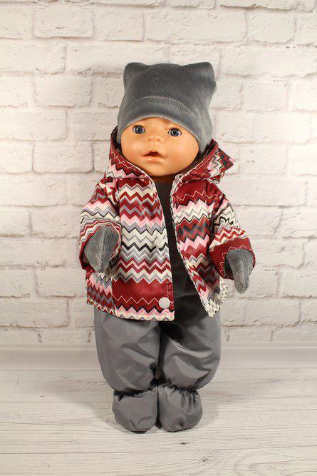 Зимний комплект веселые зигзаги для куклы Baby Born