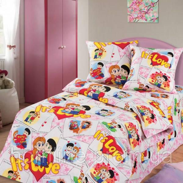 Постельное белье KidsDreams 150 ITS LOVE подростковое