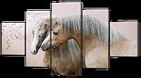 """Модульная картина """"Лошади"""""""