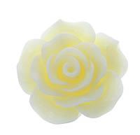 Кабошон Цветок, Роза, Смола, Белый, 20 mm x 20 mm, Фурнитура для изготовления бижутерии