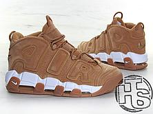 Мужские кроссовки Nike Air More Uptempo 96 Premium Flax Pack Light Brown/White AA4060-200, фото 3