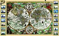 Старинная карта морская