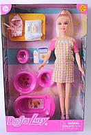 Беременная кукла, пупс, ванна, горшок, аксессуары, в коробке