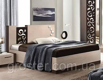 Кровать двуспальная Сага. Мебель для спальни.