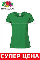 Женская Футболка Премиум  Ярко-зелёная  Fruit of the loom 61-424-47  S, фото 3