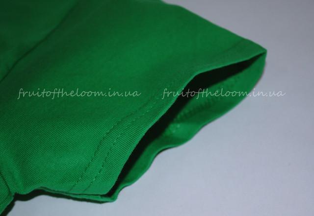 Ярко-зелёная премиум  женская футболка