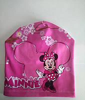 Шапка детская весенняя  девочки Мини Маус, фото 1