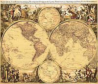 Карта мира под старину
