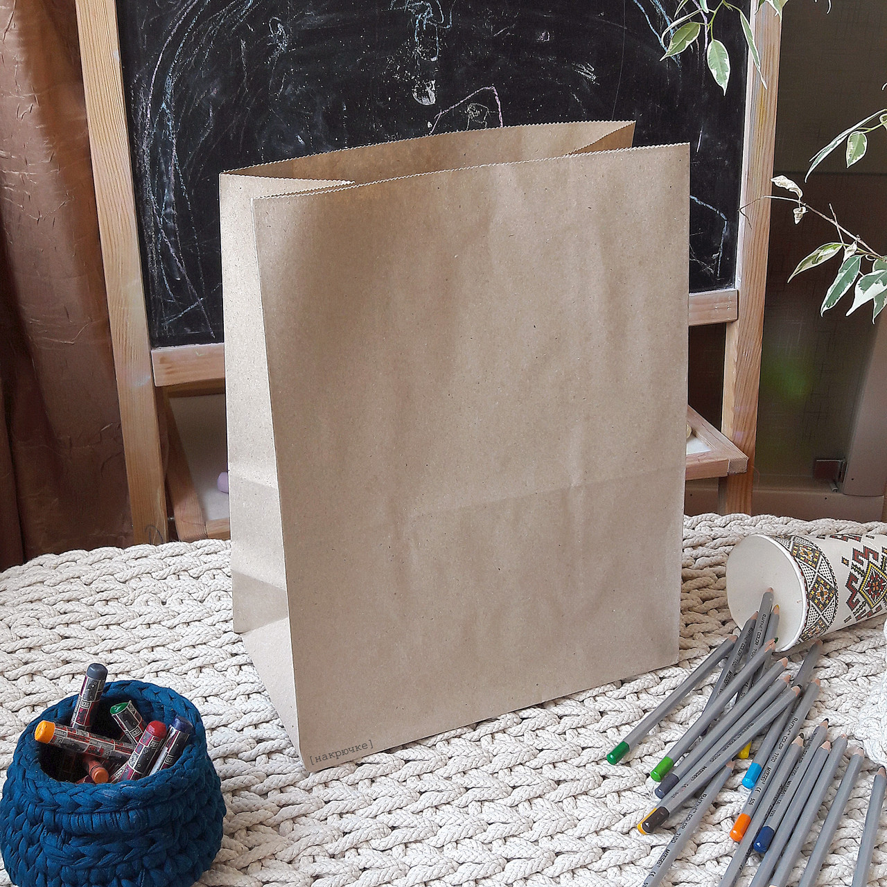 Крафт-пакет без ручек 805, 335х260х140 мм