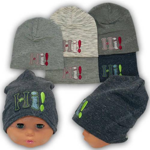 Польские трикотажные детские шапки, р. 42-44