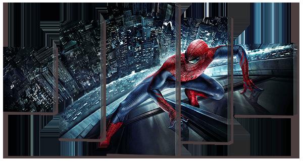 """Модульная картина """"Человек паук"""""""