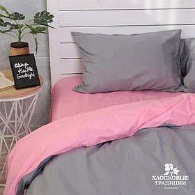 Комплект постельного белья Dark Grey Pink (Полуторный)