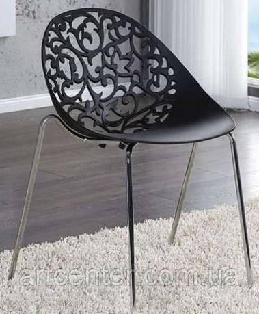 Стілець офісний, стілець для дому, стілець для відвідувачів, стілець обідній (МІА чорний)