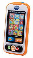 Детский музыкальный развивающий мобильный телефон для детей Vtech Touch & Swipe Baby Phone витеч 80-146100