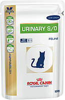 Консервы 100 г для лечения мочекаменной болезни у кошек Роял Канин / URINARY S/O FELINE Pouches Royal Canin