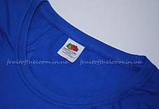 Женская Футболка Премиум Ярко-синяя Fruit of the loom 61-424-51 XS, фото 2