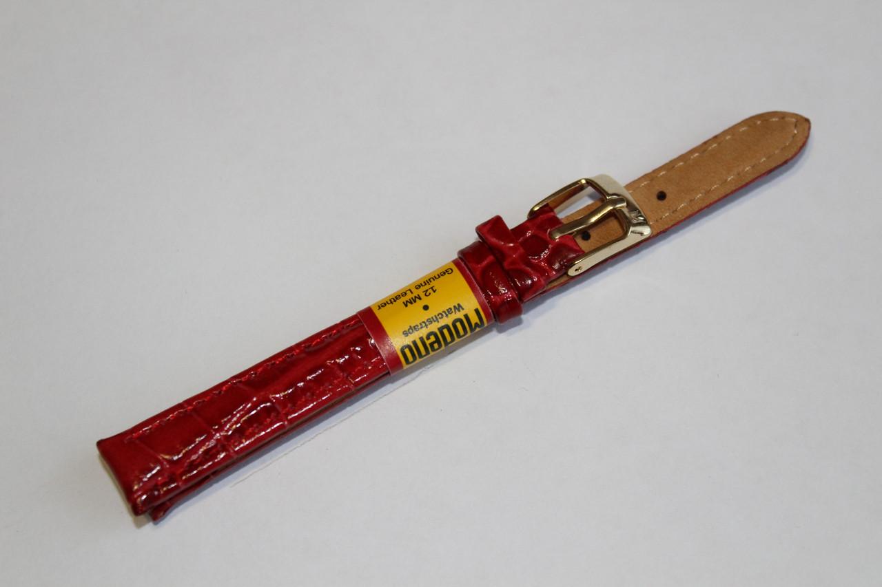 Ремешок для часов Modeno-кожаный ремень для часов красного цвета 12 мм.