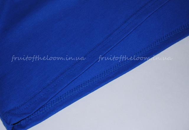Ярко-синяя премиум  женская футболка