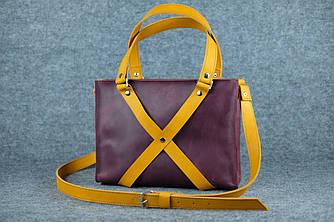 Крестик «Мимоза»  11307  Фиолетовый + янтарь