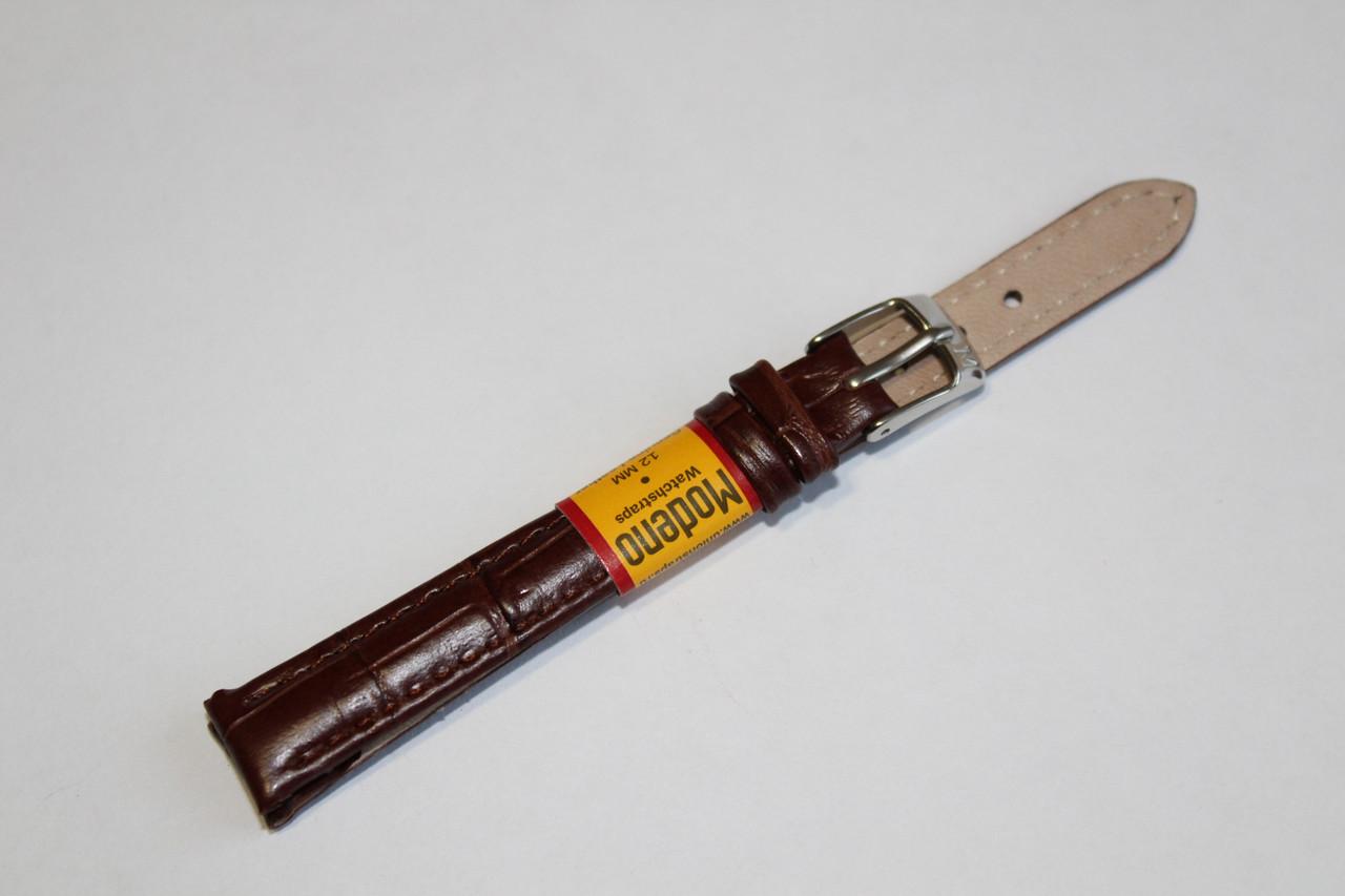 Ремешок для часов Modeno-кожаный ремень для часов коричневого цвета 12 мм.