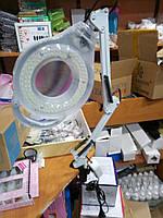 Лампа лупа настольная ( светодиодная)2 крипления в комлекте
