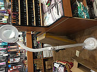 Лампа лупа  напольная на гибком штативе(светодиодная)