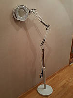 Лампа лупа светодиодная 3 в 1 трансформер  напольная, настольная ( светодиодная 5 диоптрий)