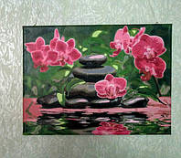 Картина для малювання Турбо Лілові орхідеї (VP535) 40 х 50 см