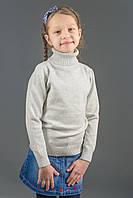 Гольф Many&Many для девочки однотонный, светло-серый., фото 1