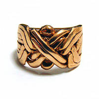 Кольцо-головоломка мужское из 8 деталей (бронза)