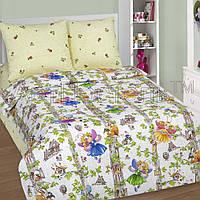 Подростковое полуторное постельное белье, Лесные феи, поплин 100%хлопок